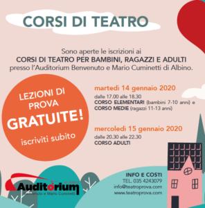 CORSI TEATRO ALBINO 2019-2020